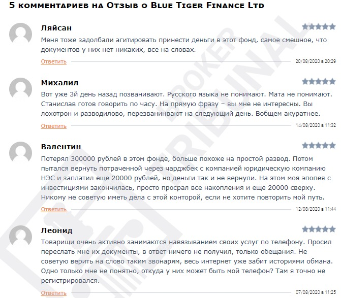 Blue Tiger Finance
