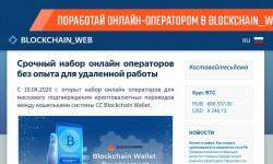 Вакансия «Онлайн-оператор» в BLOCKCHAIN_WEB